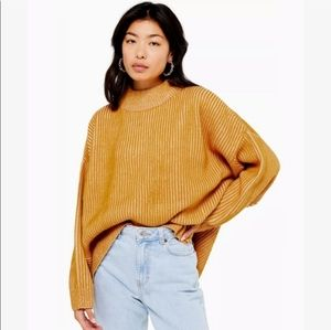 Topshop slouchy mock neck sweater small NWT